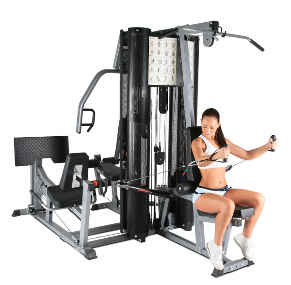 BodyCraft X2 Double Stack Multi Gym_Side View